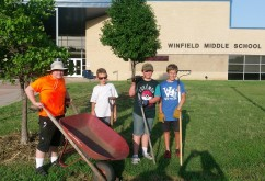 Great gardening scouts!