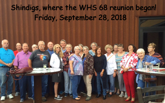 Class of 1968 @ Shindigs Sept 2018