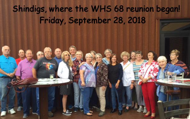 Class of 1968 @ Shindigs Sept 2018